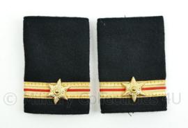 Nederlandse Brandweer epauletten - hoge rang adjunct hoofdbrandmeester - paar - origineel