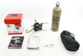 Defensie MSR Stove met toebehoren - compleet op de fles aansluiting na - inclusief brandstoffles -
