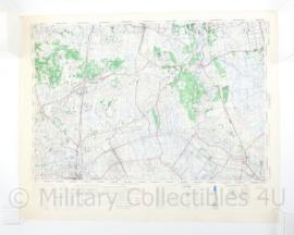 Wo2 Britse War Office Stafkaart van Almelo  uit 1945 - Schaal 1:50000 -  60 x 75 cm - origineel