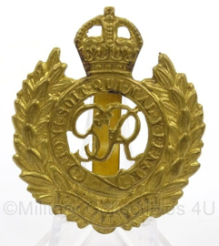 Britse cap badge Royal Engineers - afmeting 4 x 6 cm - origineel
