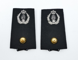 Kmar Marechaussee DT epauletten - Brigade Adjudant - 9 x 5 cm -origineel