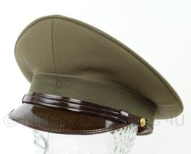 Italiaanse officiers visor cap - ongebruikt in de originele doos! - groen - maat 61 of 62 cm - origineel