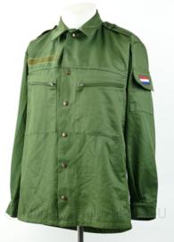 Zeldzame KL basis jas 1e model begin jaren 90  in groen - kleur groen van M78 kleding - 6080/8590 - origineel