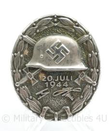 WO2 Duitse medaille Verwundete abzeichen 20 juli 1944 aanslag op Hitler - met replica maker stempel -  replica