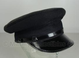 Politie platte pet - zonder insigne  -  grof wol Zwart - maat 56, 57 of 58 - origineel