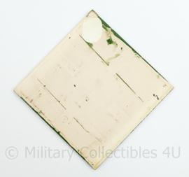 Wandbord tegeltje Defensie MCAM 1978  - Militaire Commissie voor Automobielen en Motorwedstrijden - 15,5 x 15,5 cm - origineel