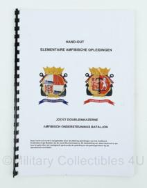 Korps Mariniers handout elementaire amfibische opleidingen amfibisch ondersteunings bataljon - 38 pagina's - origineel