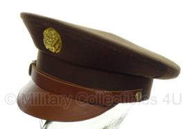 US Enlisted manschappen visor cap groen voor class A uniform - beste kwaliteit - 56 tm. 60 cm.