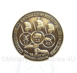 Nederlands Duitse coin Korps 1 NL DE Corps oefening Odyssee Sword 2011 13e en 43e gemechaniseerde brigade en 11 luchtmobiel -  diameter 3,5 cm - origineel