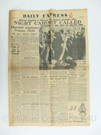 Daily Express krant - May 1, 1945 - origineel