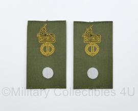 KL Nederlandse leger GVT epauletten schouderstukken set - Adjudant - origineel