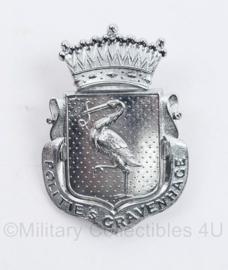 Politie 's-Gravenhage pet embleem metaal Gemeentepolitie - 7,5 x 5,5 cm - origineel
