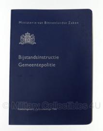 Bijstandsinstructieboekje Gemeentepolitie 1966 - origineel