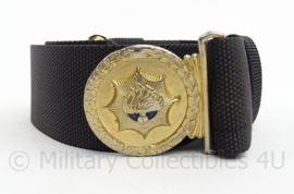 Korps Rijkspolitie te water koppel - zwart met goudkleurig slot - 92 cm - origineel
