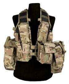 Tactical vest 12 pockets - Multicamo