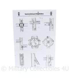 Kmar Marechaussee instructiekaart begeleiden 103 Esk Kmar Eskadron Seedorf 2004- 21 x 15 cm - origineel