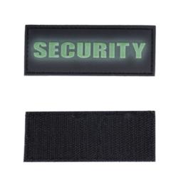 Embleem Security - fluorescerende tekst - met klittenband - 3D PVC - 8,6 x 3,3 cm