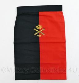 Nederlands leger halsdoek 108 Afdeling Veldartillerie  - rood/zwart -  origineel