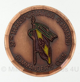 37th Transportation Command - Commander's coin For Outstanding Performance- origineel