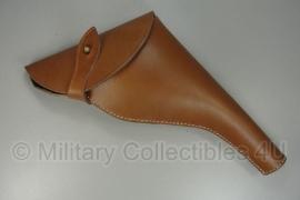 Webley Mk 4 revolver - bruin leer