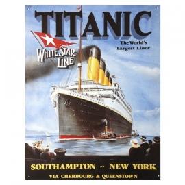 metalen plaat groot titanic