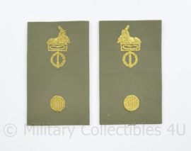 Defensie Staf Stratotex epauletten paar Adjudant - 9 x 5 cm - origineel