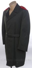 Tsjechisch leger mantel met ceintuur en schouder epauletten - maat 50/1- origineel
