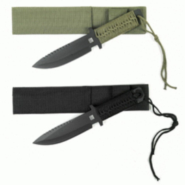 Combat knife 7 inch - zwart of groen
