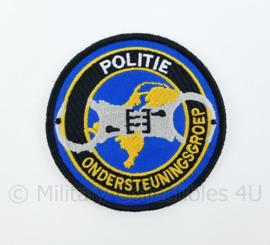 Nederlandse Politie Ondersteuningsgroep embleem - met klittenband - diameter 9 cm