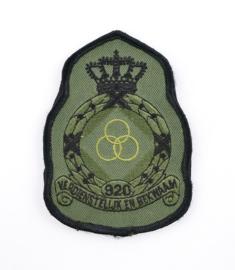 KLU Luchtmacht embleem 920 Squadron Verdienstelijk en bekwaam - met klittenband - 11,5 x 8 cm - origineel