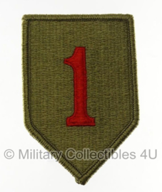 US Army OCP SSI patch - 1st Infantry Division - Big Red One - met klittenband - 10 x 6 cm - voor multicamo uniform - origineel