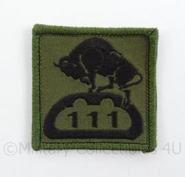 KL Landmacht borst embleem 111e eenheid met bison - met klittenband - afmeting 5 x 5 cm - origineel