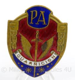 Spaanse Politie borst brevet in doosje - Placa Policia Armada (PA) Guarnicion Epoca de Franco - afmeting 5 x 7 cm - origineel