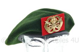 KL Nederlandse leger tussen model baret met KMS Koninklijke Militaire School insigne - licht gedragen - maat 59 - origineel