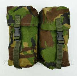 KL Nederlandse leger dubbele tassen set - DPM camo - maker Arktis - 25 x 10 x 23 cm - Topstaat! - origineel