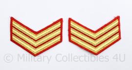 Korps Mariniers Barathea rangen paar - Sergeant - origineel