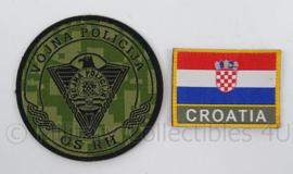 Kroatische Politie emblemen set - nieuwste model camo - doorsnede 9 cm - origineel