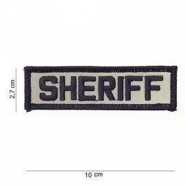 Embleem stof nametag Sheriff -10 x 2,7 cm.
