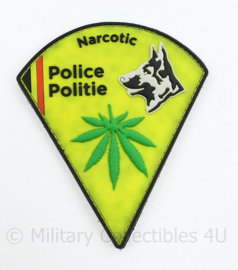 Belgische Politie Police Narcotic embleem - 12 x 10 cm - origineel