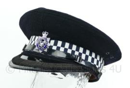 Britse politie pet met insigne - Bedfordshire Police - hoge rang met band op klep - maat 56 - origineel