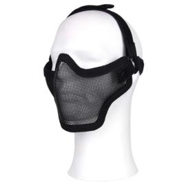 Airsoft half gezichtsmasker - BLACK