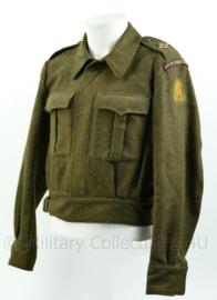 MVO Ministerie van Oorlog BDU battledress - Aan en Afvoer troepen Nationaal Commando - jaren 50 - maat 50 - origineel
