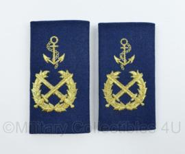 Korps Rijkspolitie te water epauletten rang Opperwachtmeester PAAR - 10 x 5 cm - origineel