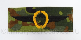 Duitse BW Bundeswehr stoffen Parawing Fallschirmjager goud - GVT Flecktarn - afmeting 5 x 12 cm - origineel