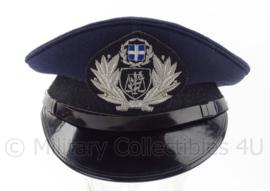 Griekse leger platte pet met insigne - maat 57,5 - origineel