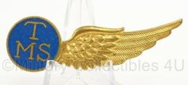 KLu Luchtmacht halve Wing TMS Telegrafist Mecano Schutter - echt Silver - afmeting 2 x 6,5 cm - origineel