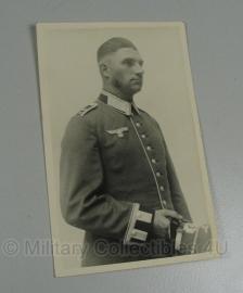 Portretfoto soldaat - 14 x 9 cm. origineel wo2