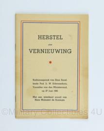 Boekje herstel en vernieuwing uit 1945 - origineel