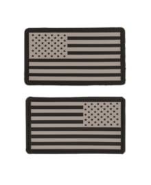 Uniform landsvlag USA 3d PVC ACU ABU camo  foliage met klittenband - 2 stuks