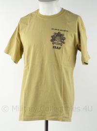 KL Landmacht T shirt ISAF 45 NLD Bg RIOG - Oranje Gelderland - Uruzgan 2008 Staf Compagnie - maat M - origineel